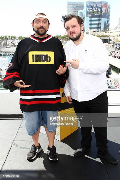 Host Kevin Smith and actor John Bradley attend the IMDb Yacht at San Diego ComicCon 2016 Day One at The IMDb Yacht on July 21 2016 in San Diego...