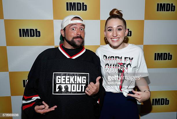 Host Kevin Smith and actress Harley Quinn Smith attend the IMDb Yacht at San Diego ComicCon 2016 Day Two at The IMDb Yacht on July 22 2016 in San...