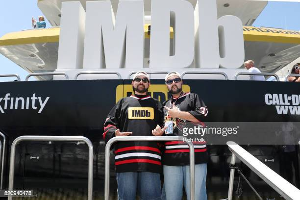 Host Kevin Smith and Kevin Smith doppleganger on the #IMDboat at San Diego ComicCon 2017 at The IMDb Yacht on July 22 2017 in San Diego California