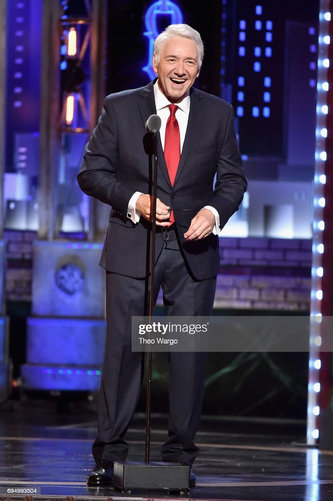 Host Kevin Spacey speaks onstage during the 2017 Tony Awards at Radio City Music Hall on June 11, 2017 in New York City.