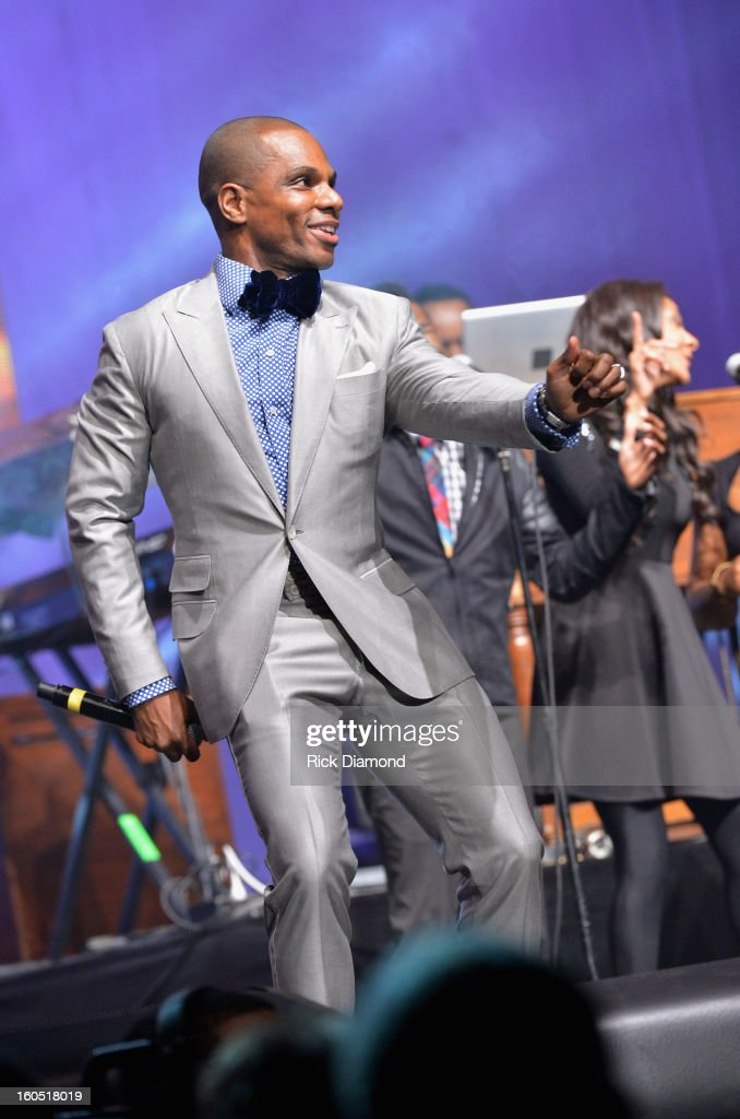 Host Kirk Franklin performs during the Super Bowl Gospel 2013 Show at UNO Lakefront Arena on February 1, 2013 in New Orleans, Louisiana.