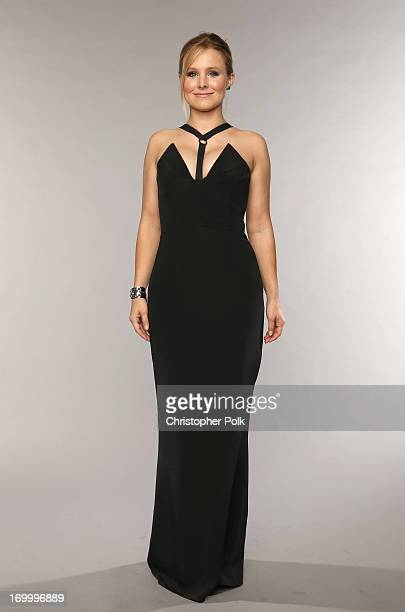 Host Kristen Bell poses at the Wonderwall portrait studio during the 2013 CMT Music Awards at Bridgestone Arena on June 5 2013 in Nashville Tennessee