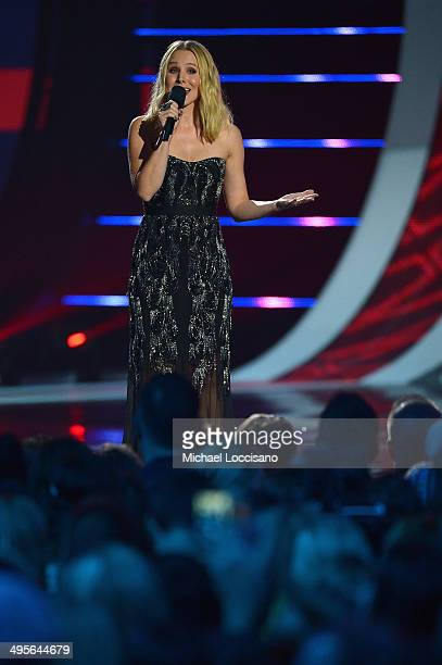 Host Kristen Bell speaks onstage at the 2014 CMT Music Awards at Bridgestone Arena on June 4 2014 in Nashville Tennessee