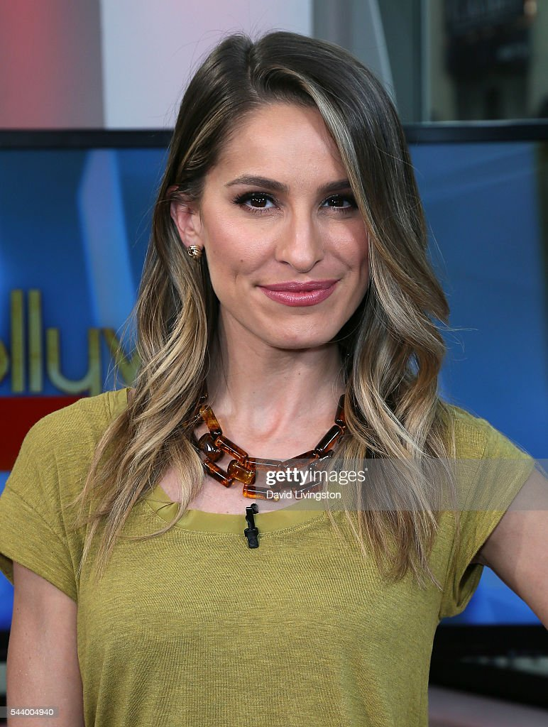 Host Kristen Brockman poses at Hollywood Today Live at W Hollywood on June 30, 2016 in Hollywood, California.