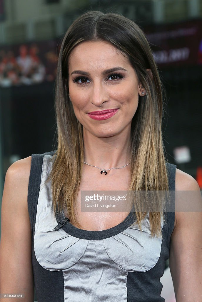 Host Kristen Brockman poses at Hollywood Today Live at W Hollywood on July 1, 2016 in Hollywood, California.