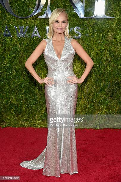 Host Kristin Chenoweth attends the 2015 Tony Awards at Radio City Music Hall on June 7 2015 in New York City