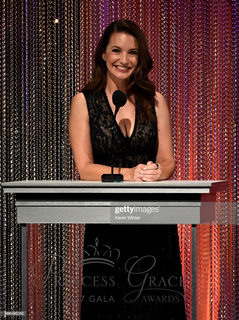 Host Kristin Davis speaks onstage during the 2017 Princess Grace Awards Gala at The Beverly Hilton Hotel on October 25, 2017 in Beverly Hills, California.