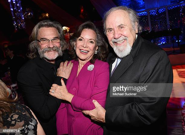Host Kurt Russell Jolene Brand and producer George Schlatter attend Goldie Hawn's inaugural 'Love In For Kids' benefiting the Hawn Foundation's...