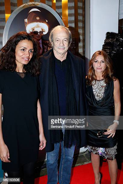 TV host Laurence Roustandjee Actor Patrick Chesnais and Sarah Guetta attend the Sarah Guetta Party in Paris for the first anniversary of the...