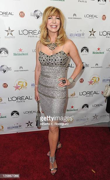 TV host Leeza Gibbons arrives to the Hollywood Walk of Fame's 50th Anniversary Celebration on November 3 2010 in Hollywood California