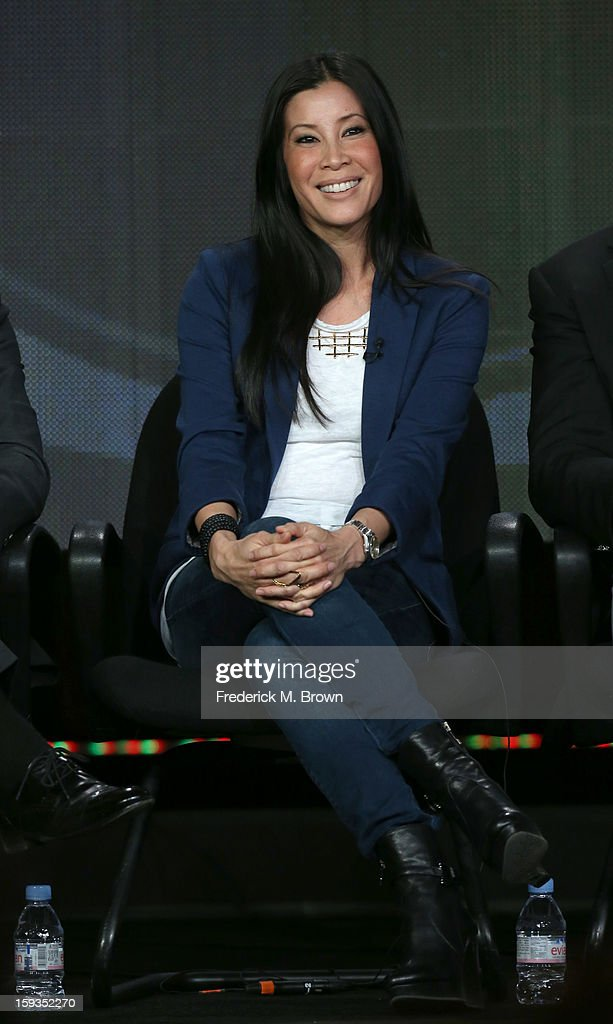 Host Lisa Ling of 'The Job' speaks onstage during the CBS portion of the 2013 Winter TCA Tour at Langham Hotel on January 12 2013 in Pasadena...