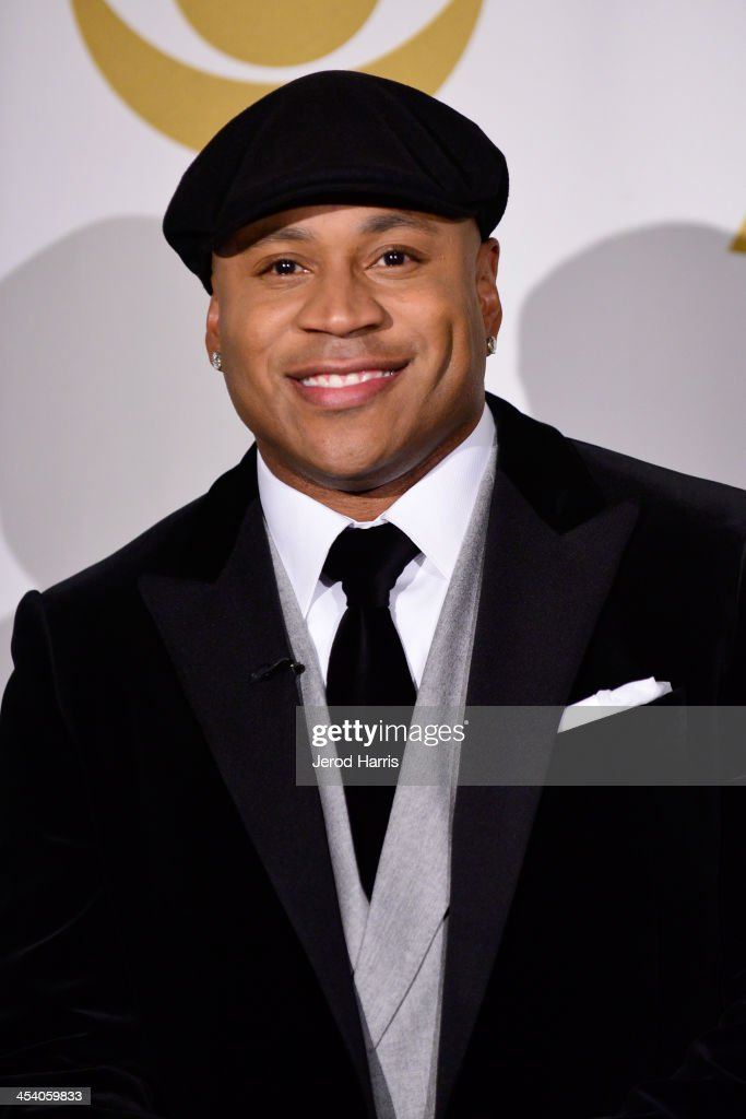 Host LL Cool J poses in the press room during The GRAMMY Nominations Concert Live Countdown to Music's Biggest Night at Nokia Theatre LA Live on...