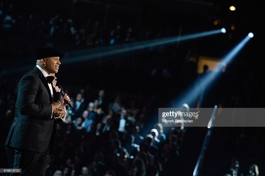 Host LL Cool J speaks onstage during The 58th GRAMMY Awards at Staples Center on February 15, 2016 in Los Angeles, California.