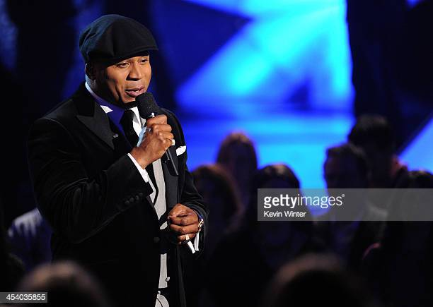 Host LL Cool J speaks onstage during The GRAMMY Nominations Concert Live Countdown to Music's Biggest Night at Nokia Theatre LA Live on December 6...