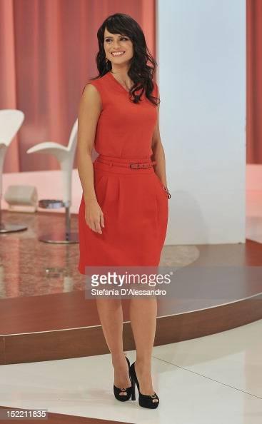 TV host Lorena Bianchetti attends 'Parliamone In Famiglia' Italian TV Show held at Rai Studios on September 17 2012 in Milan Italy