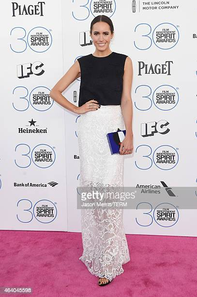 TV host Louise Roe attends the 2015 Film Independent Spirit Awards at Santa Monica Beach on February 21 2015 in Santa Monica California