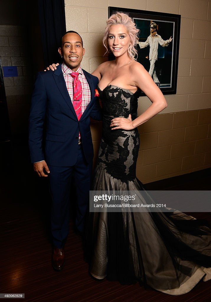 Host <a gi-track='captionPersonalityLinkClicked' href=/galleries/search?phrase=Ludacris&family=editorial&specificpeople=203034 ng-click='$event.stopPropagation()'>Ludacris</a> (L) and recording artist Kesha attend the 2014 Billboard Music Awards at the MGM Grand Garden Arena on May 18, 2014 in Las Vegas, Nevada.