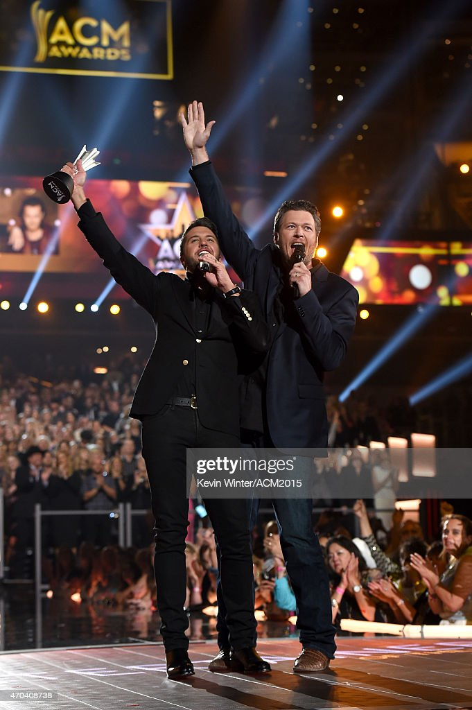 Host luke bryan winner of the entertainer of the year for Academy of country music award for video of the year
