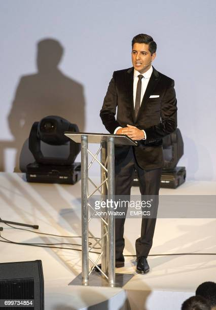 Host Manish Bhasin during the PFA Awards at the Grosvenor House Hotel London