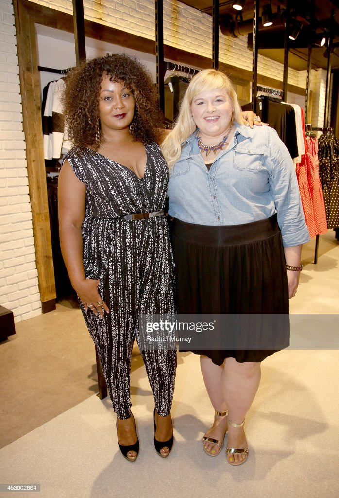 Host Marie Denee of TheCurvyFashionista.com (L) and Plus Model Magazine Executive Fashion Director Reah Norman attend the City Chic Exclusive Preview: First U.S Store Culver City at Westfield Culver City Shopping Mall on July 31, 2014 in Culver City, California.