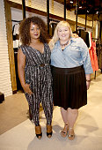 Host Marie Denee of TheCurvyFashionistacom and Plus Model Magazine Executive Fashion Director Reah Norman attend the City Chic Exclusive Preview...
