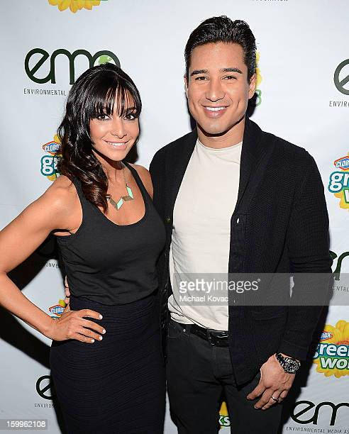 TV host Mario Lopez and Courtney Mazza attend Celebrities and the EMA Help Green Works Launch New Campaign at Sur Restaurant on January 23 2013 in...