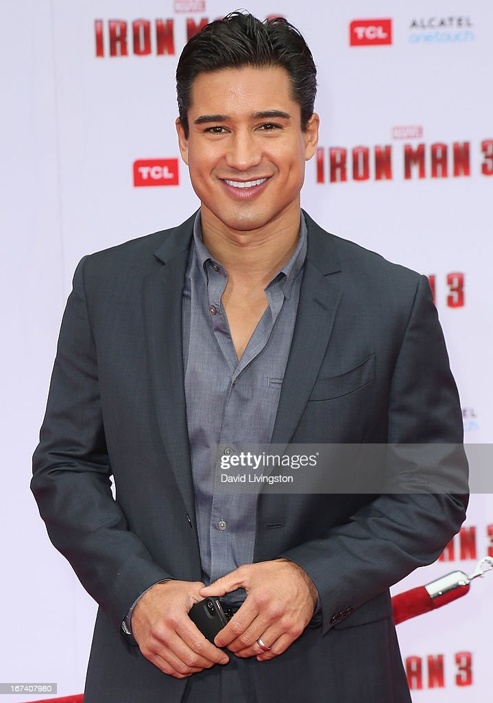 TV host Mario Lopez attends the premiere of Walt Disney Pictures' 'Iron Man 3' at the El Capitan Theatre on April 24, 2013 in Hollywood, California.