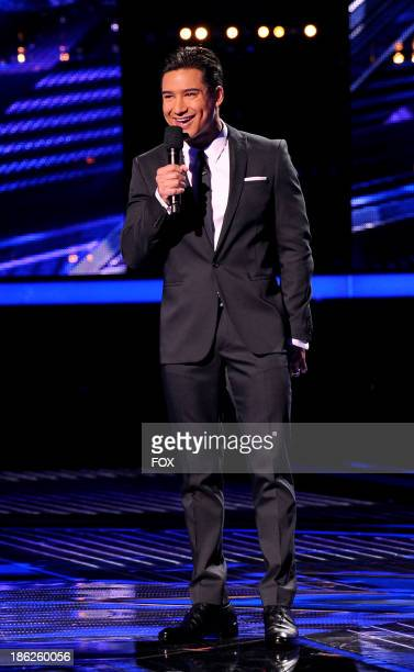 Host Mario Lopez speaks onstage on FOX's 'The X Factor' Season 3 Top 16 Live Performance Show on October 29 2013 in Hollywood California
