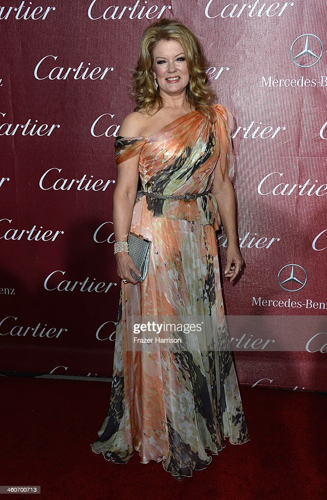 TV Host Mary Hart arrives at the 25th Annual Palm Springs International Film Festival Awards Gala at Palm Springs Convention Center on January 4, 2014 in Palm Springs, California.