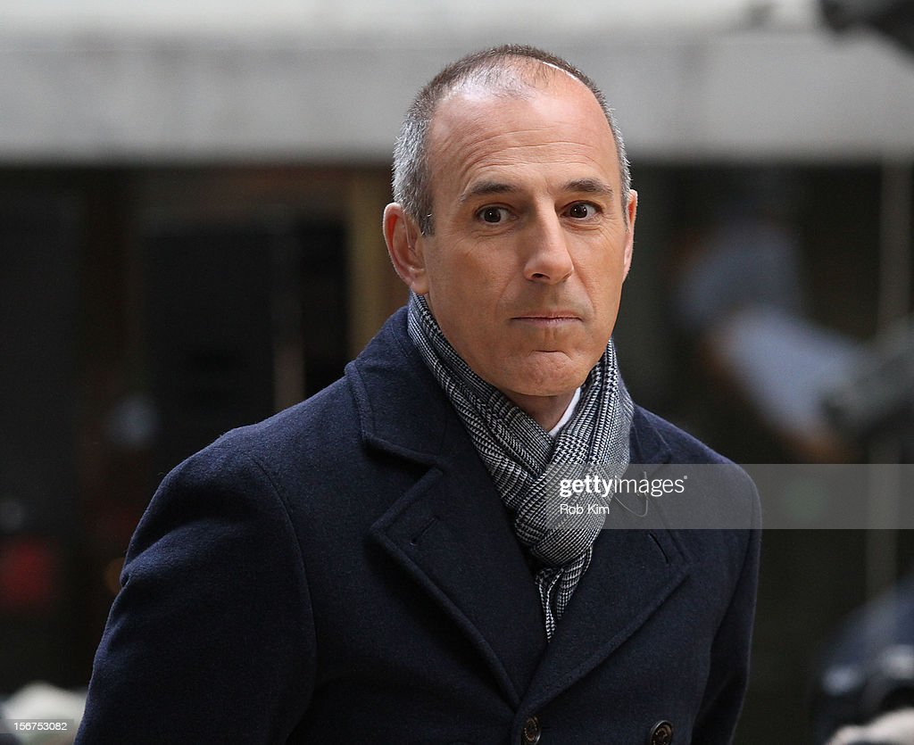Host <a gi-track='captionPersonalityLinkClicked' href=/galleries/search?phrase=Matt+Lauer&family=editorial&specificpeople=206146 ng-click='$event.stopPropagation()'>Matt Lauer</a> appears on NBC's 'Today' at Rockefeller Plaza on November 20, 2012 in New York City.