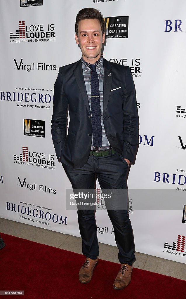 TV host Matthew Hoffman attends the premiere of 'Bridegroom' at the AMPAS Samuel Goldwyn Theater on October 15, 2013 in Beverly Hills, California.