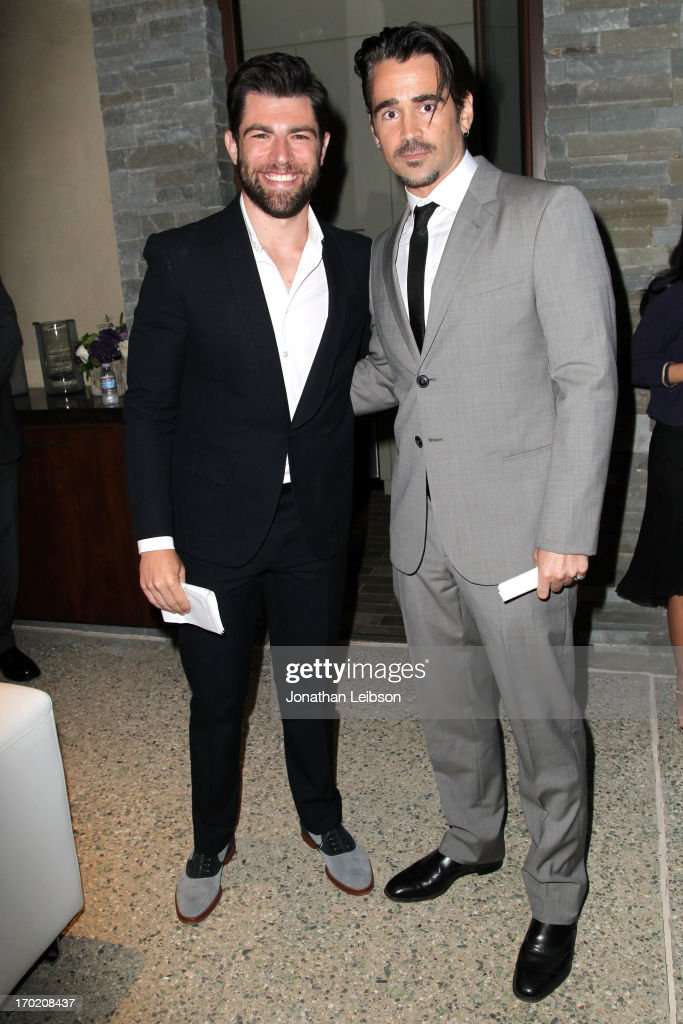 Host Max Greenfield (L) and Colin Farrell attend the 12th Annual Chrysalis Butterfly Ball on June 8, 2013 in Los Angeles, California.