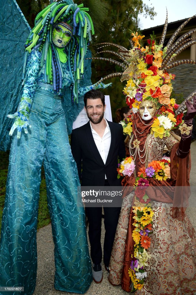 Host Max Greenfield (C) attends the 12th Annual Chrysalis Butterfly Ball on June 8, 2013 in Los Angeles, California.