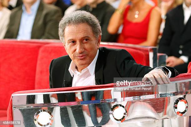 Host Michel Drucker presents the 'Vivement Dimanche' French TV Show at Pavillon Gabriel on November 5 2014 in Paris France