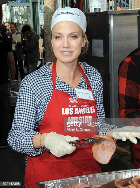 ESPN host Michelle Beadle at the Los Angeles Mission Christmas Eve Celebration held at Los Angeles Mission on December 24 2015 in Los Angeles...