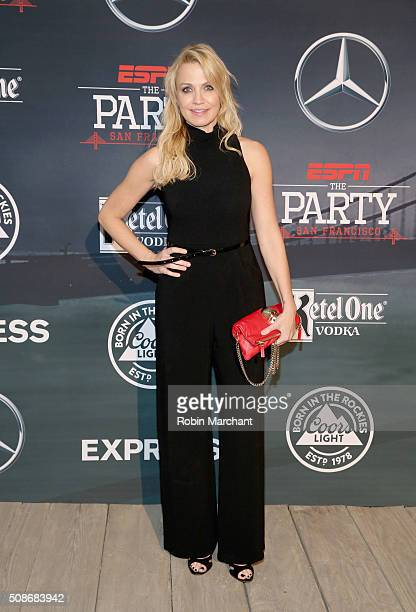 Host Michelle Beadle attends ESPN The Party on February 5 2016 in San Francisco California
