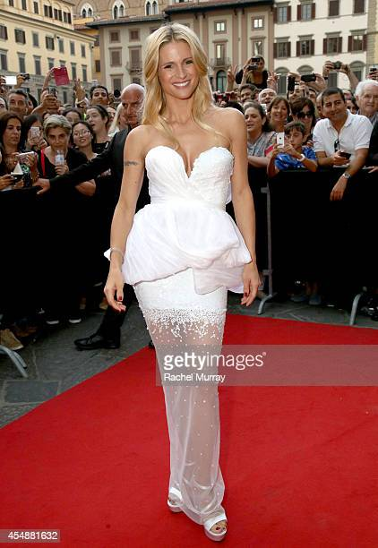 Host Michelle Hunziker attends the Celebrity Fight Night gala celebrating Celebrity Fight Night In Italy benefitting The Andrea Bocelli Foundation...