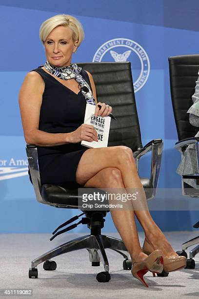 MSNBC host Mika Brzezinski hosts a panel discussion during the White House Summit On Working Families at the Omni Shoreham hotel June 23 2014 in...