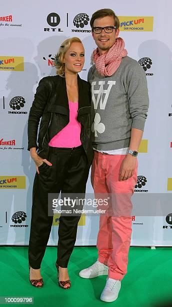 TV host Mirjam Weichselbraun and Joachim 'Joko' Winterscheidt arrive at 'The Dome 54' at the HannsMartin Schleyer Halle on May 20 2010 in Stuttgart...