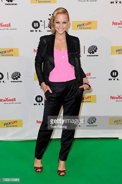 TV host Mirjam Weichselbraun arrives at 'The Dome 54' at Schleyerhalle on May 20 2010 in Stuttgart Germany