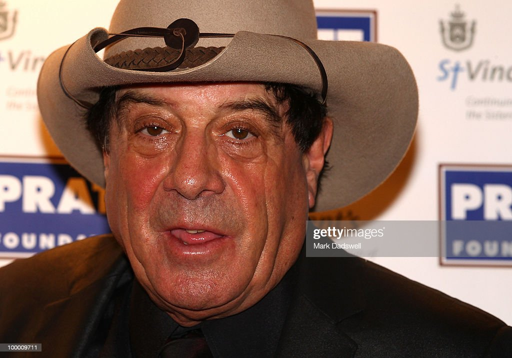 Host Molly Meldrum arrives at the Pratt Foundation's 'An Intimate Evening with Sir Bob Geldof' in support of St Vincent's Cancer Center on May 20, 2010 in Melbourne, Australia.