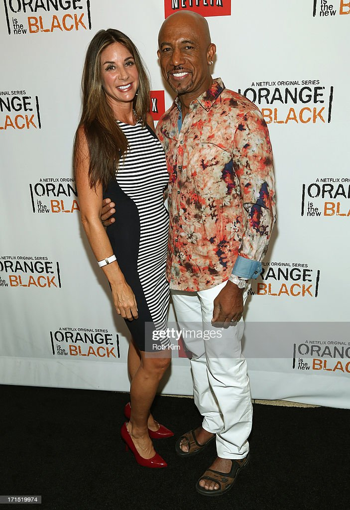 TV Host Montel Williams and guest attend 'Orange Is The New Black' New York Premiere at The New York Botanical Garden on June 25, 2013 in New York City.