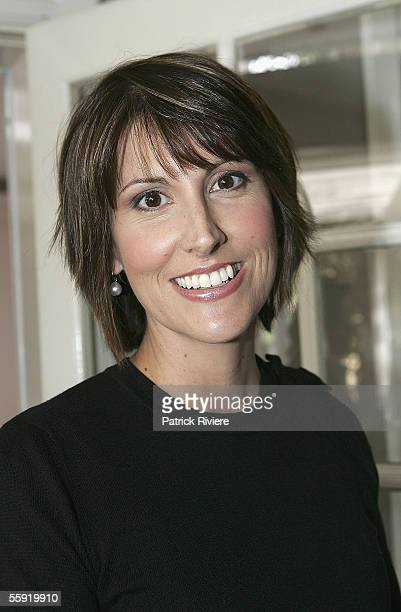 TV host Natalie Barr attends a private lunch at the House of Cerrone on October 14 2005 in Sydney Australia