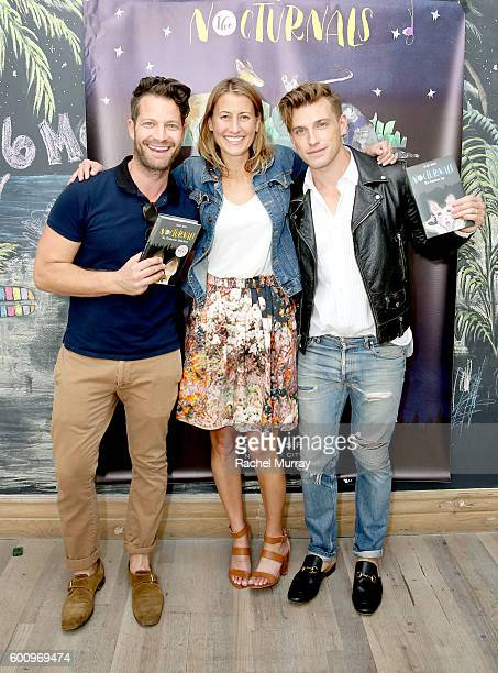 Host Nate Berkus Author Tracey Hecht and host Jeremiah Brent attend the celebration for Tracey Hecht's new book series 'The Nocturnals' hosted by...