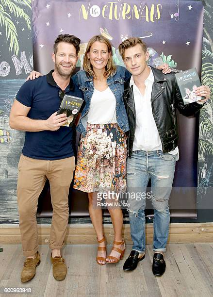 Host Nate Berkus writer Tracey Hecht and host Jeremiah Brent attend the celebration for Tracey Hecht's new book series 'The Nocturnals' hosted by...