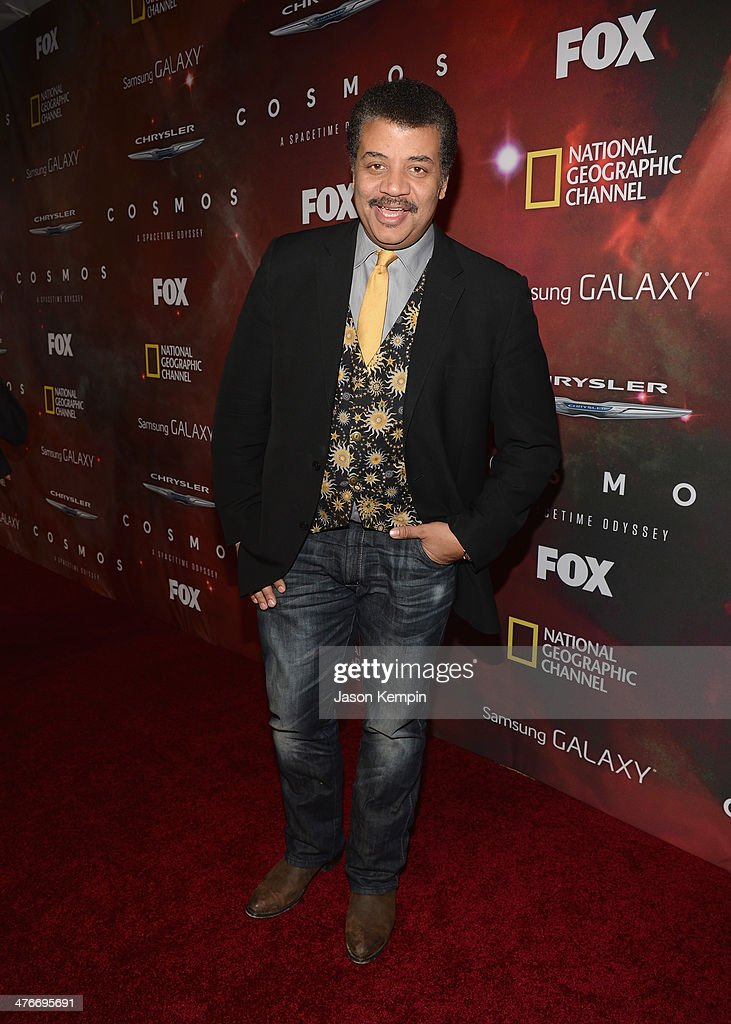 Host Neil deGrasse Tyson attends the premiere of Fox's 'Cosmos: A SpaceTime Odyssey' at The Greek Theatre on March 4, 2014 in Los Angeles, California.