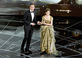 Host Neil Patrick Harris and Anna Kendrick perform onstage during the 87th Annual Academy Awards at Dolby Theatre on February 22 2015 in Hollywood...