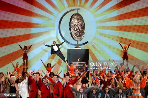 Host Neil Patrick Harris and casts of Broadway shows perform onstage at The 67th Annual Tony Awards at Radio City Music Hall on June 9 2013 in New...