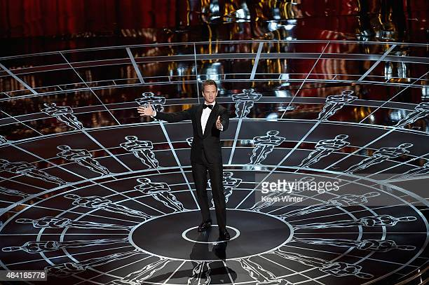 Host Neil Patrick Harris performs onstage during the 87th Annual Academy Awards at Dolby Theatre on February 22 2015 in Hollywood California