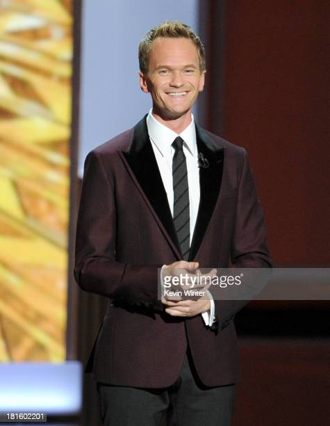 Host Neil Patrick Harris speaks onstage during the 65th Annual Primetime Emmy Awards held at Nokia Theatre LA Live on September 22 2013 in Los...